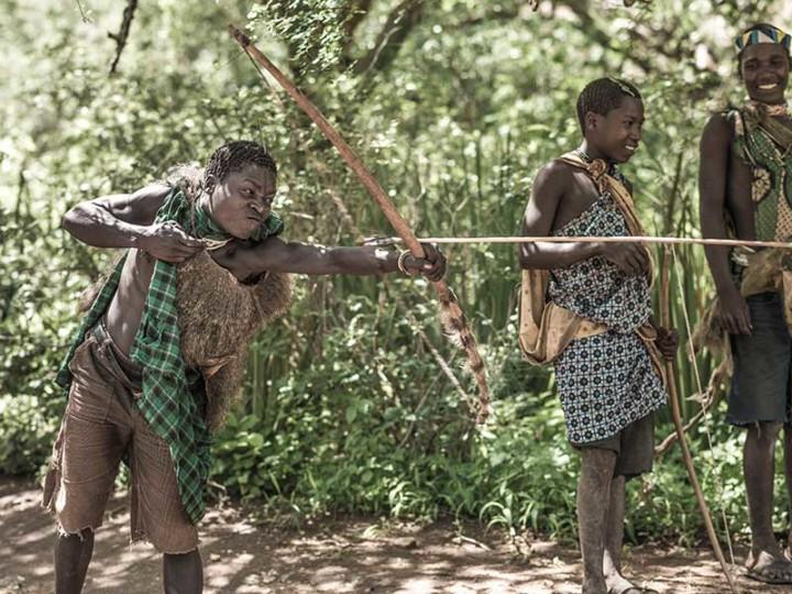 Hadzabe boys Ngorongoro Conservation Area